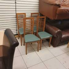 4 oak wood rail back chairs whelans quality used furniture