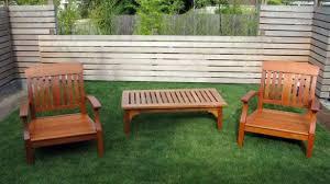 wood patio table furniture backyard landscape design attractive