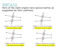 Example Of Alternate Interior Angles Recall A Transversal Is A Line That Intersects Two Coplanar Lines