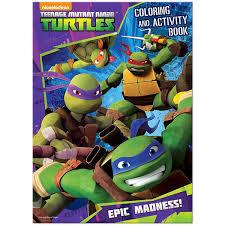 teenage mutant ninja turtles coloring book crayons stickers