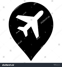Map Marker Airport Map Marker Vector Icon Style Stock Vector 330717722