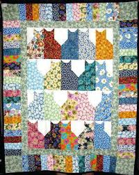 theme quilts handmade daisies cat quilt throw cat rescue quilts cats