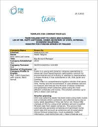 18 simple company profile template free word format download