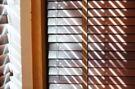 color of wood blinds should complement window trim the san diego