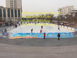 inflatable ice skating rink equipment synthetic plastic ice rink