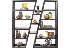 room devider sofia vergara lenora merlot room divider bookcases dark wood