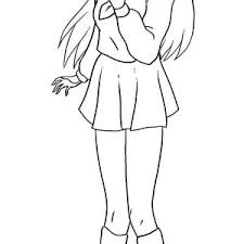 long haired chibi anime character coloring page long haired chibi