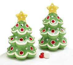 christmas trees salt and pepper shakers christmas pinterest