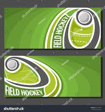 vector banners field hockey game field stock vector 613549961