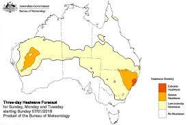 meteorology bureau australia heatwave map abc australian broadcasting corporation
