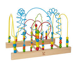 wooden bead toy table hape funny face kid s wooden bead maze hape amazon ca toys games