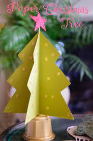 paper craft christmas tree tombow usa blog