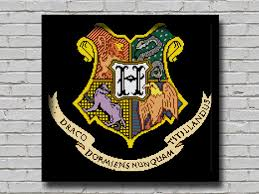 bogo cross stitch pattern hogwarts coat arms printable pattern