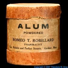 alum photo alum a sle of the element aluminum in the periodic table