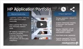 hp application portfolio management resultspositive