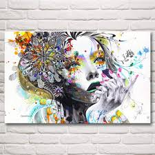 trippy wall murals part 16 psychedelic trippy girl mind blowing trippy wall murals part 16 psychedelic trippy girl mind blowing art silk fabric poster prints home wall decor painting 12x19 15x24