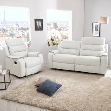 ensemble de canapé ensemble canapé 2 relax manuel 3 places fauteuil relax manuel en