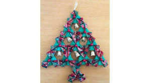 tutorial fabric origami christmas tree wall hanging u2013 sewing