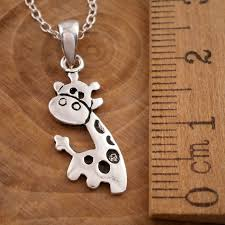 jewellery charm necklace images Sterling silver giraffe charm necklace silver willow jewellery jpg