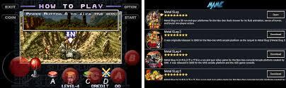mame emulator apk metal slug series arcade classic mame emulator apk