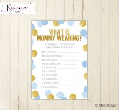 guessing game what is mommy wearing baby blue baby shower game