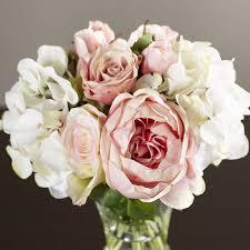 white hydrangea bouquet faux and hydrangea bouquet in pedestal glass vase reviews