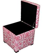 Upholstered Storage Ottoman Bargains On Sole Designs Bonjour Themed Series Tami Collection