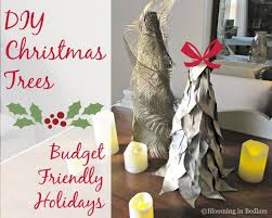 cheap christmas trees budget friendly decor diy christmas trees