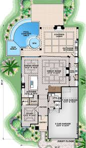 beach style house plan 5 beds 5 50 baths 6824 sq ft plan 27 557