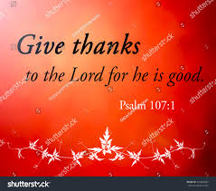 psalm for thanksgiving text give thanks lord he good stock illustration 343853267