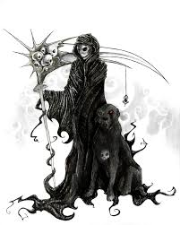 beautiful grim reaper n black dog tattoo design for boys picsmine
