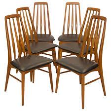 six danish teak dining chairs koefoed hornslet at 1stdibs