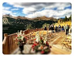 breckenridge wedding venues outside wedding at the lodge and spa in breckenridge colorado