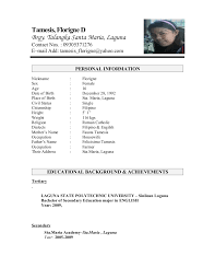 Resume Personal Information Sample by Resume I Hereby Certify That The Above Information