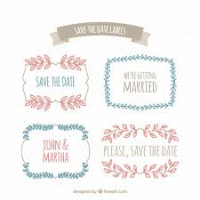 pack of floral wedding stickers in vintage style vector free