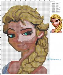 elsa from frozen free cross stitch pattern to print