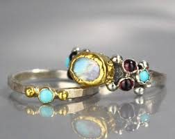 Turquoise Wedding Rings by Bridal Sets Etsy