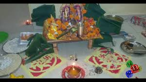 Home Decoration Ideas For Diwali Diwali Lakshmi Puja And Home Decoration Ideas Youtube