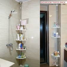Bathroom Shelve Dnyâ 120cm 300cm 4 Tier Adjustable Stainless Telescopic Shower