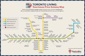 Ttc Subway Map Toronto Property Price Subway Maps Theredpin