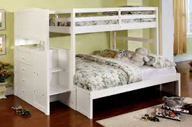 bedroom black painted wooden bunk bed which is having twin over