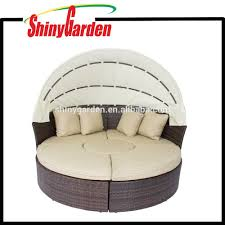Outdoor Wicker Patio Furniture Round Canopy Bed Daybed - canopy outdoor furniture canopy outdoor furniture suppliers and