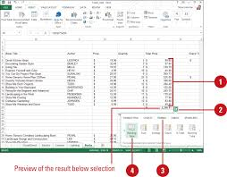 Home Design Show Excel Calculating Totals With Quick Analysis Working With Formulas And