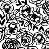 black and white fabric wallpaper gift wrap spoonflower