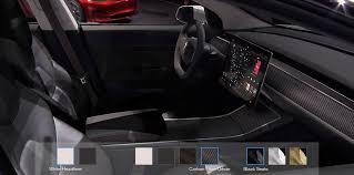 Tesla Carbon Fiber Interior You Can Now Configure Tesla Model 3 U0027s Interior In The Unofficial