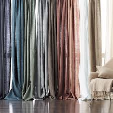 belgium linen window curtain panel the company store