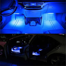 Car Led Interior Lights Interior Car Lights Ledglow 4 Piece Single Color Led Interior