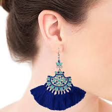 earrings online india royal blue afghan tassel earrings by maira designs the