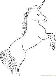 rampant unicorn coloring page free unicorn coloring pages