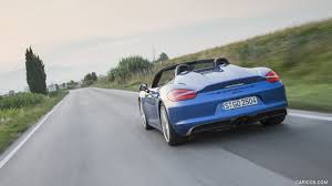 porsche boxster rear 2016 porsche boxster spyder color sapphire blue metallic rear